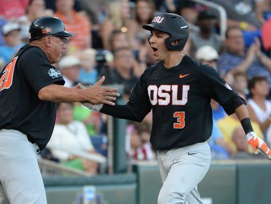 NCAA Baseball: College World Series-LSU vs Oregon State