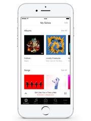 The Sonos app for controlling the Santa Barbara, California