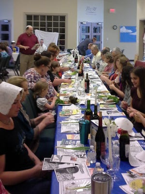 Members of Christ Lutheran Church on Kirkwood Road held their seventh annual Passover meal.