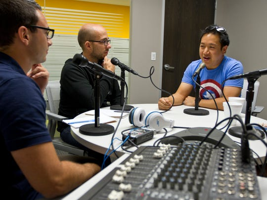 """Comic Book Men"" star Ming Chen stops by the Asbury Park Press to tape an episode of the Fan Theory podcast. Alex Biese, Felecia Wellington Radel, and Al Mannarino have a conversation with Chen.