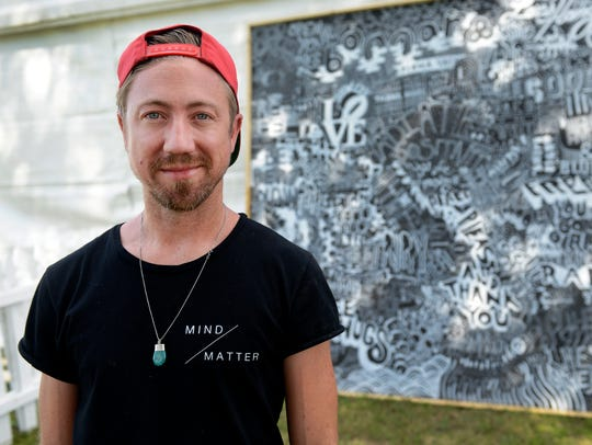 Nashville artist Nathan Brown was commissioned by Bonnaroo