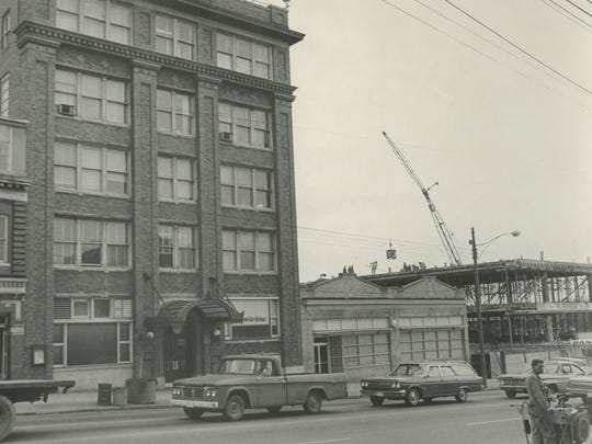 Construction on The Greenville News' current building.