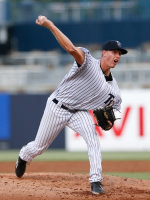 Former UWM pitcher Brian Keller had 11 strikeouts recently for the Class A Tampa Yankees.