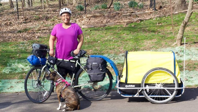 Jasmine Reese on her cycling trip across the United States.