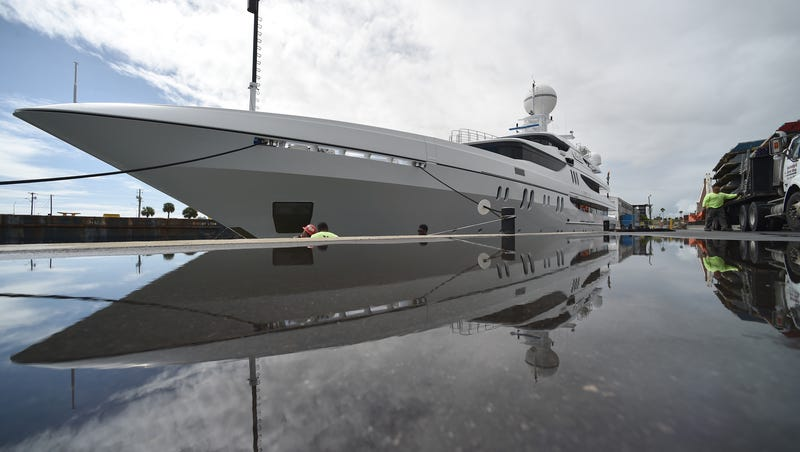 It's a tough choice for mega-yacht operator at Fort Pierce port