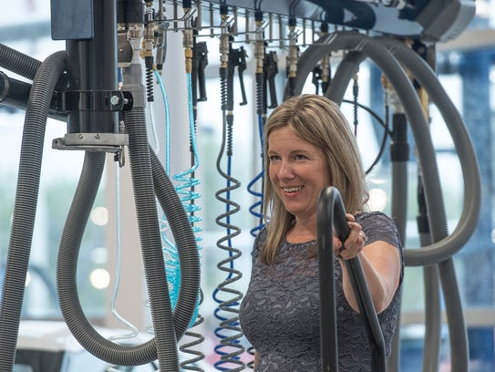 Matick Chevrolet COO Molly Williams, hanging around