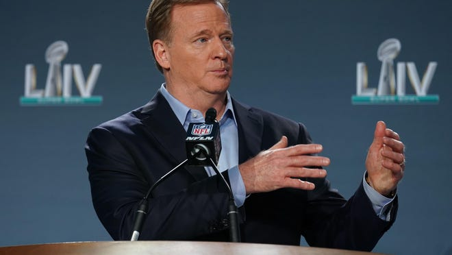 NFL commissioner Roger Goodell said Friday that the NFL failed to listen to players when they protested in prior seasons.