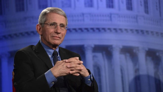 Dr. Anthony Fauci of the National Institutes of Health listens to a question during an AP Newsmaker interview in Washington, Thursday, Jan. 18, 2018.