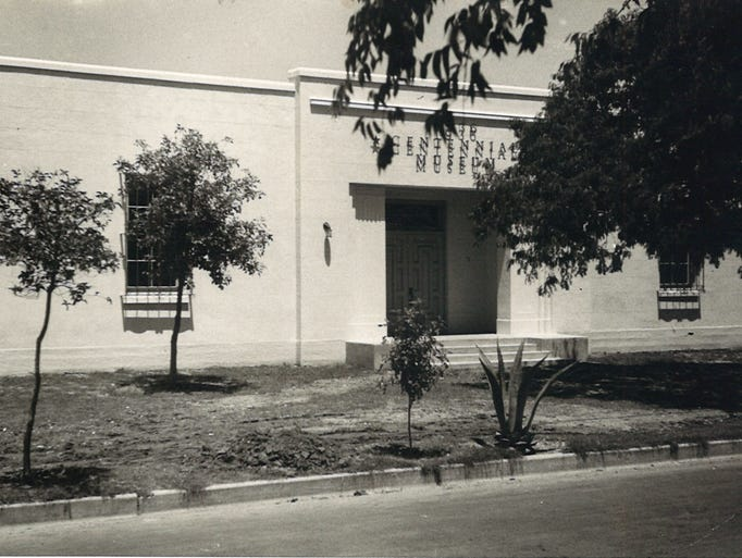 The 1936 Centennial Museum on Park Avenue in an undated