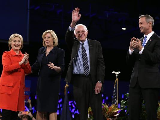 Hillary Rodham Clinton, Bernie Sanders, Martin O'Malley