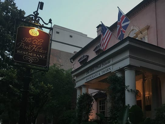 The Olde Pink House in Savannah is a Colonial mansion