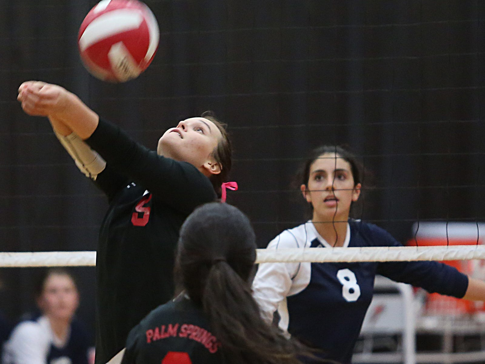 Michaela Hissam, seen here during a win over La Quinta, leads the Indians into the CIF title game at 10 a.m. Saturday against Windward.