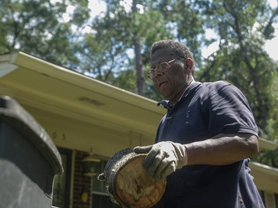Silver Ridge Estates resident Daniel Gilmore collects