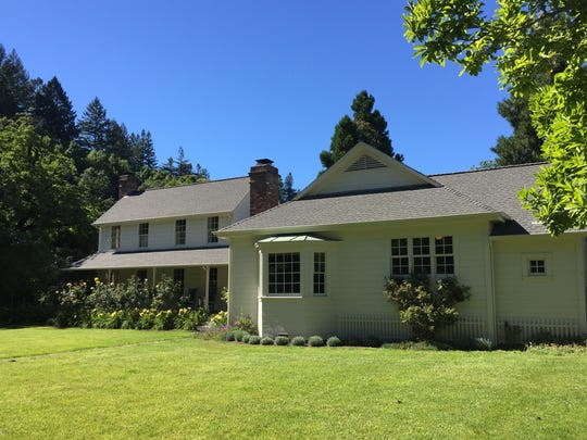 Historic ranch homes are still used at the MacMurray Estate Vineyards spread in the Russian River Valley of Sonoma County.