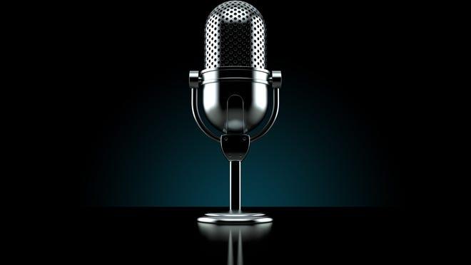 A radio microphone.