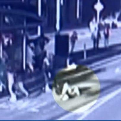 Video still of Public Square melee