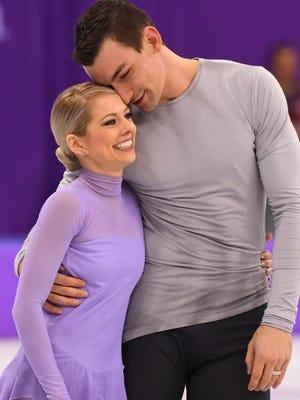 Alexa Scimeca Knierim and Chris Knierim will celebrate Valentine's Day on the Olympic ice.