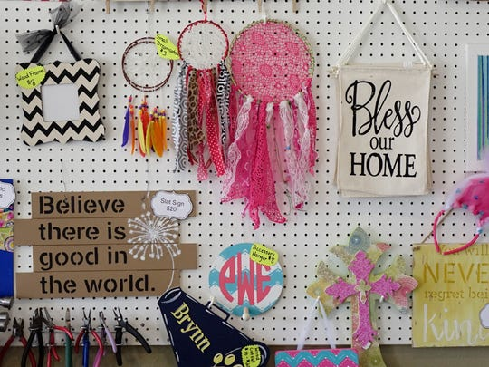Handmade items at Sweet P Studio in Carencro Friday, August 11, 2017.