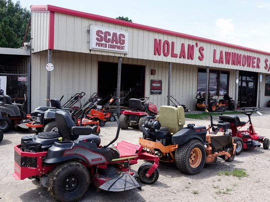 Riding lawnmowers at Nolan's Lawnmowers  in Carencro Friday, August 11, 2017.