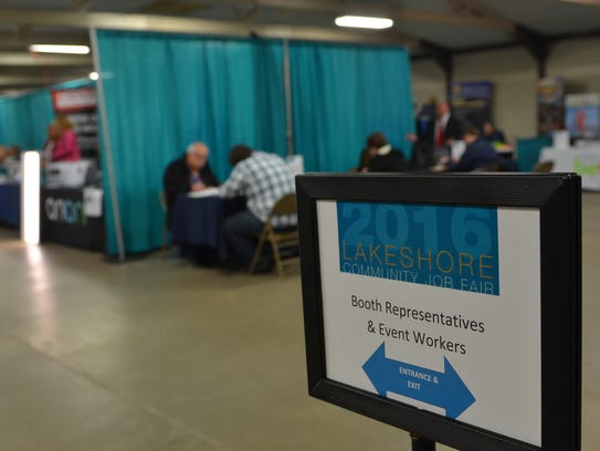 Hundreds of job seekers turned out for a job fair Thursday,