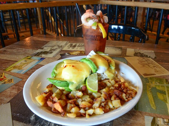 One of Barn 34's specials is the Crabby eggs benedict