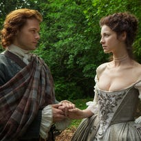 """Jamie (Sam Heughan) and Claire (Caitriona Balfe) adjust to married life when """"Outlander"""" continues on Starz."""