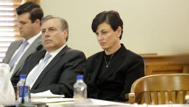 Oakland County Judge Lisa Gorcyca is on trial Tuesday, May 31, 2016, in Plymouth at the 35th District Court, on two Judicial Tenure Commission misconduct charges for her handling of the fight between Omer Tsimhoni and Maya Eibschitz-Tsimhoni.    Regina H. Boone/Detroit Free Press