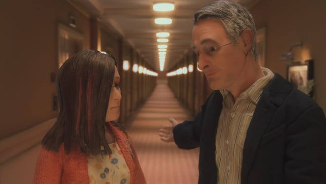 Lisa (voiced by Jennifer Jason Leigh) and Michael (David Thewlis) get to know each other in 'Anomalisa.'