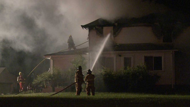 Crews on the scene at a Warren County house fire.
