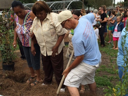 Groundbreaking came Sunday night for the Victory Garden