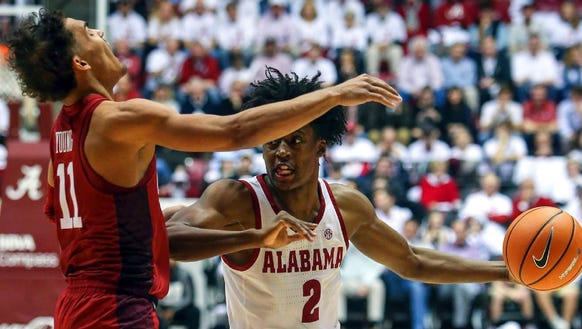 Collin Sexton scored 18 points in Alabama's win over
