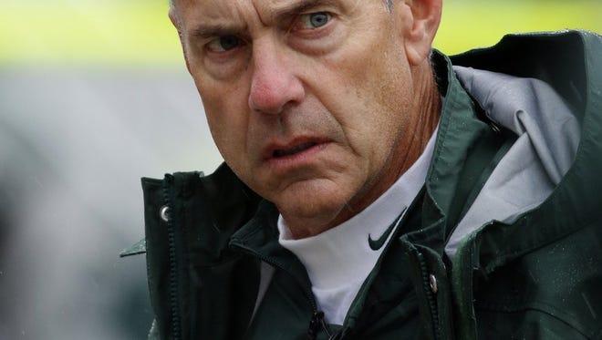 Mark Dantonio is 87-32 in nine seasons at Michigan State.