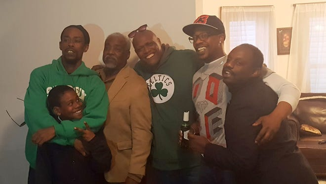 Ron Gilliam with his sons, from left, Jerome Fauntleroy, Jeremiah Gilliam, Ron Gilliam Jr., Reginald Gilliam and Robert Gilliam.