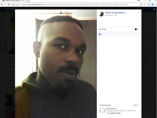 Robert Bailey Jr. is the suspected gunman behind Friday's