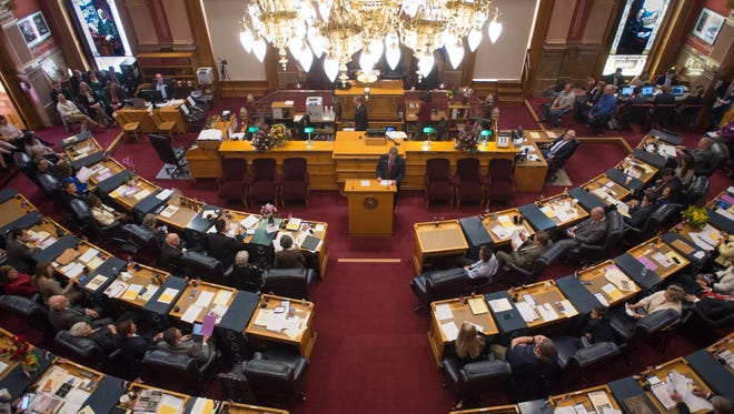 The Colorado Senate convenes in its first session of the 71st General Assembly at the Capitol in Denver on Wednesday, January 11, 2017.