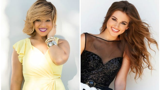 Erica Campbell, left, and Sadie Robertson, right, will co-host the Dove Awards.