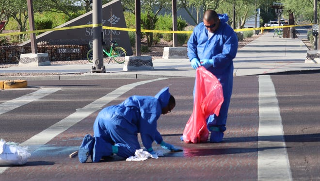 The scene where a man's body was found in Scottsdale on June 21, 2018. Police believe the man was a pedestrian struck by a hit-and-run driver.