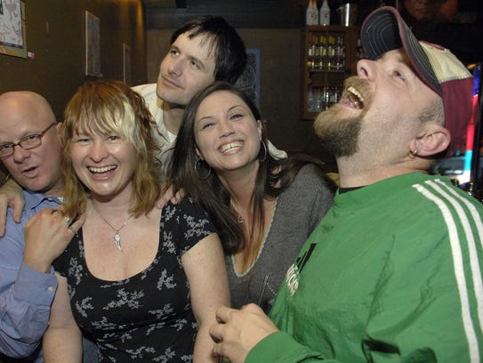 Bill Blank, 29, laughs with friends in 2008.