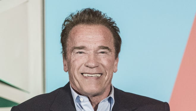 Actor and former governor of California Arnold Schwarzenegger is interviewed for the Politico podcast Off Message during SXSW Interactive on March 11, 2018 in Austin, Texas.
