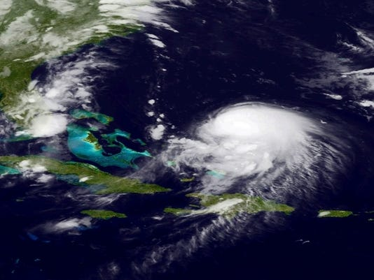 NOAA satellite imagery of Tropical Storm Joaquin 2