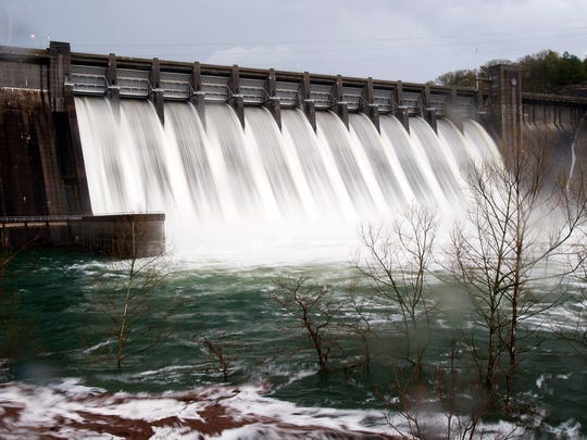 This file photo from April 10, 2008, shows spillway release of water at Norfork Dam.