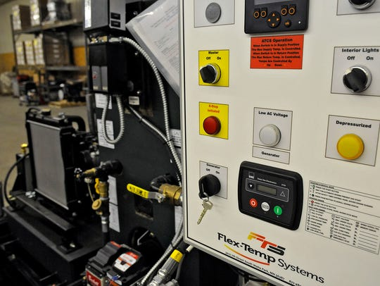 A control panel on one of the machines produced by