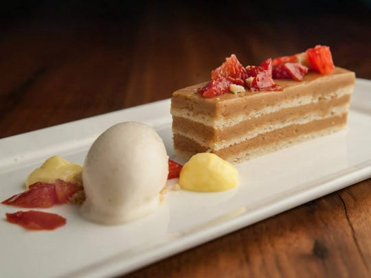 Capitol Grille's caramel cake