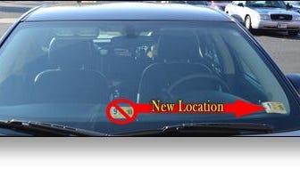 Beginning Jan. 1, motorists will be placing their state inspection stickers in a different location on their vehicles.