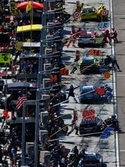 Pit row at Phoenix International Raceway.