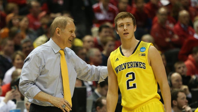 Michigan head coach John Beilein lost four players this off-season — including one, graduate transfer Spike Albrecht, above, to Big Ten rival Purdue.