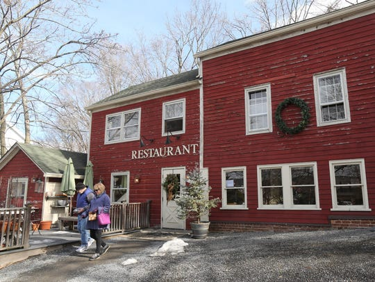 The exterior of The Village Tearoom Restaurant and