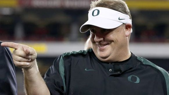 Oregon, scratch that. Head Eagles Coach Chip Kelly