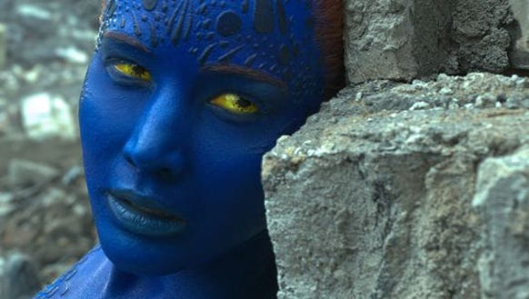 "Jennifer Lawrence stars as Mystique in ""X-Men: Apocalypse."""