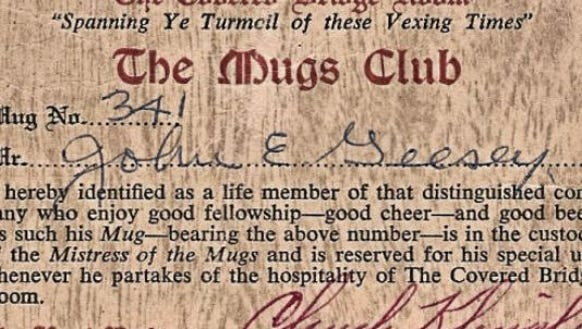 John E. Geesey's club card gave him access to a special